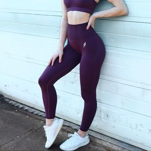 Do You Even Hyperflex Seamless Leggings Purple